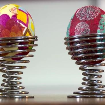 Pasqua: come decorare le uova sode con il decoupage