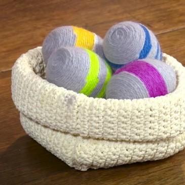 Come decorare le uova (sode) per Pasqua con la lana