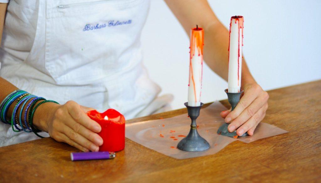 Halloween 2016: candele insanguinate