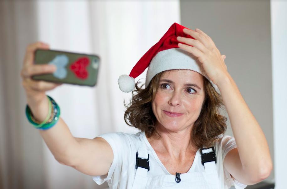 Natale 2016 - Una ghirlanda con le pigne