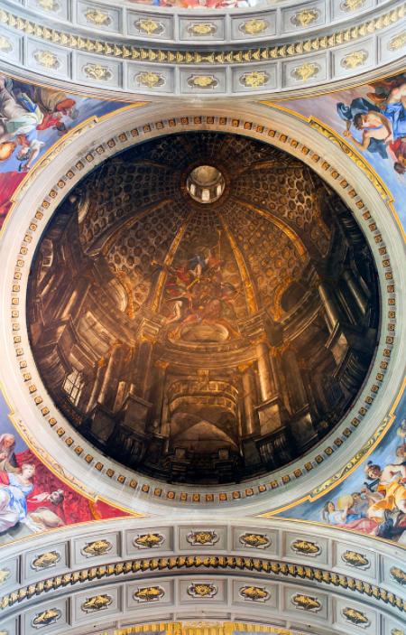 Trompe l'oeil, la falsa cupola nella Chiesa di Sant'Ignazio in Campo Marzio