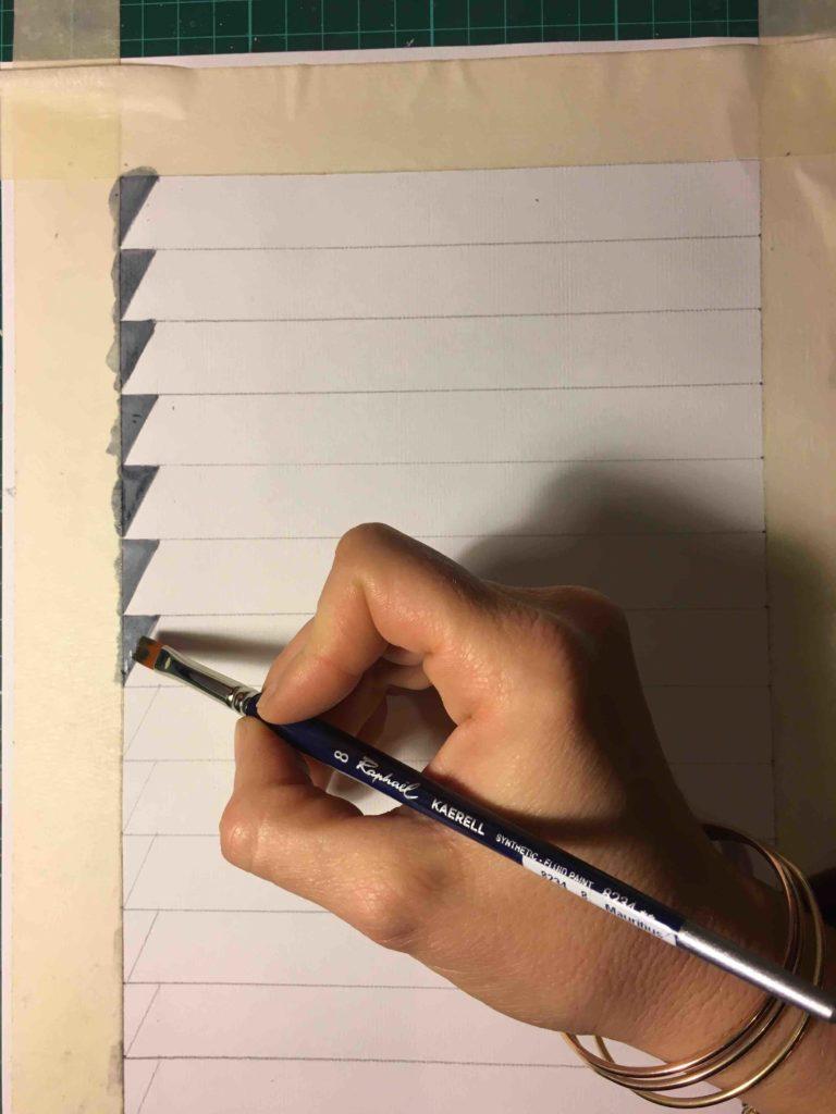Trompe l'oeil tutorial persiana finta