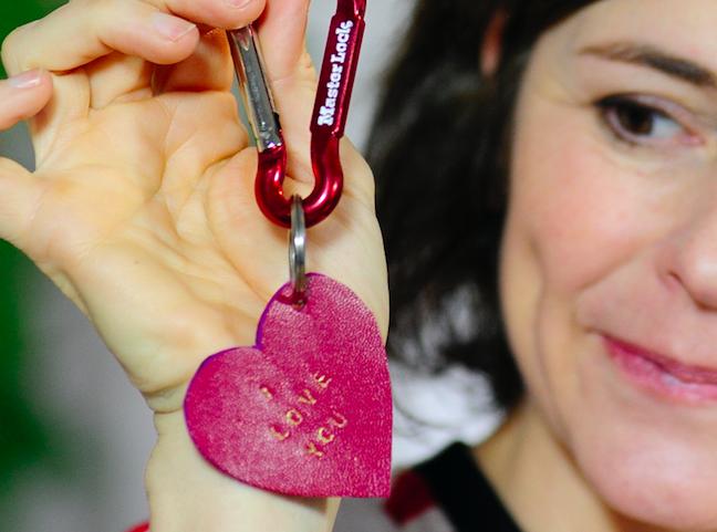 San Valentino - Idea regalo fai da te - Portachiavi
