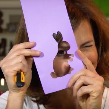 Portatovagliolo segnaposto per Pasqua (con il coniglio!)