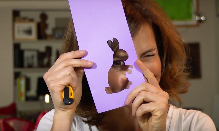 Pasqua fai da te - Portatovagliolo segnaposto col coniglio pasquale - Cucu