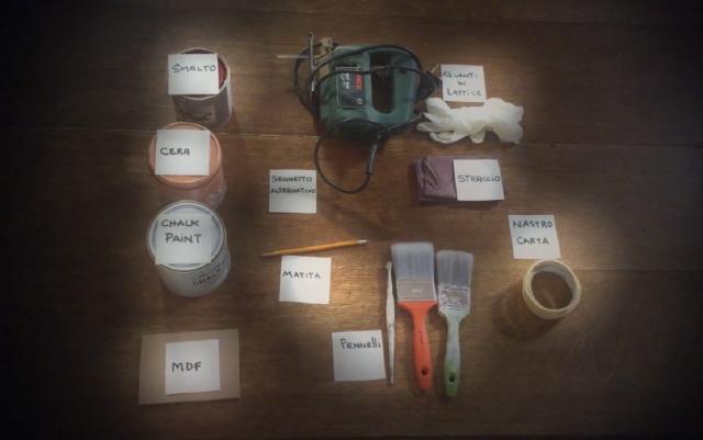 """Che cosa serve per questo lavoro """"fai da te"""" con la Chalk Paint"""