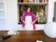 Lampadario fai da te con le piume - Un video tutorial di Barbara Gulienetti