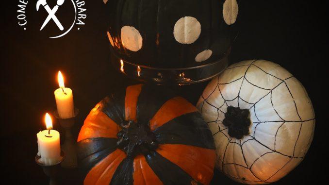 Zucche di halloween dipinte fai da te for Immagini zucche halloween