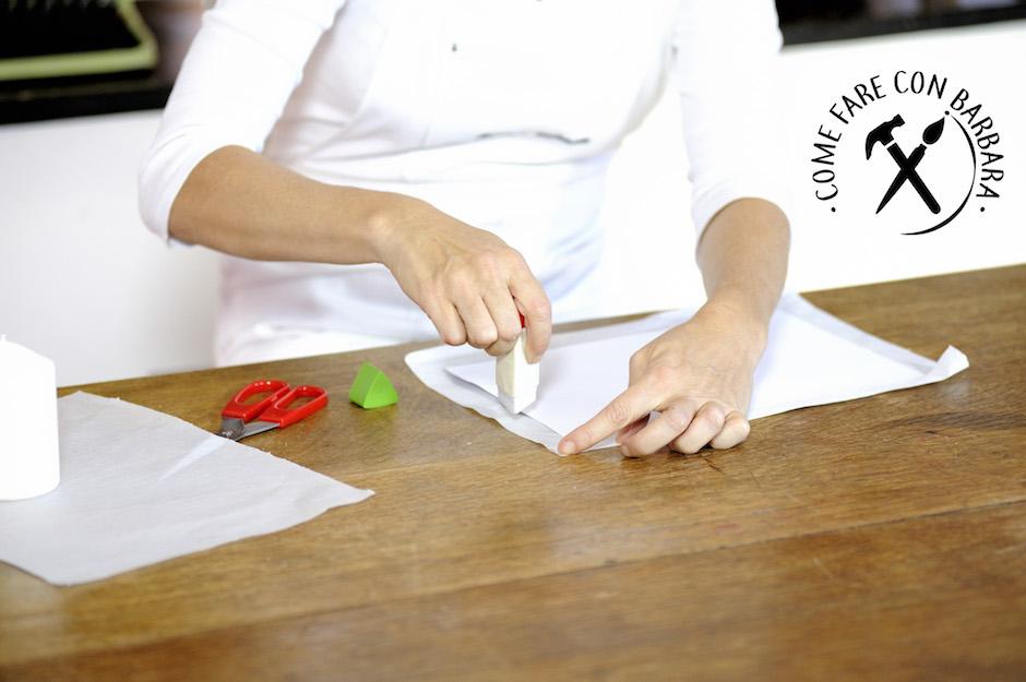 Decorare candele con carta velina come realizzare delle for Decorare candele