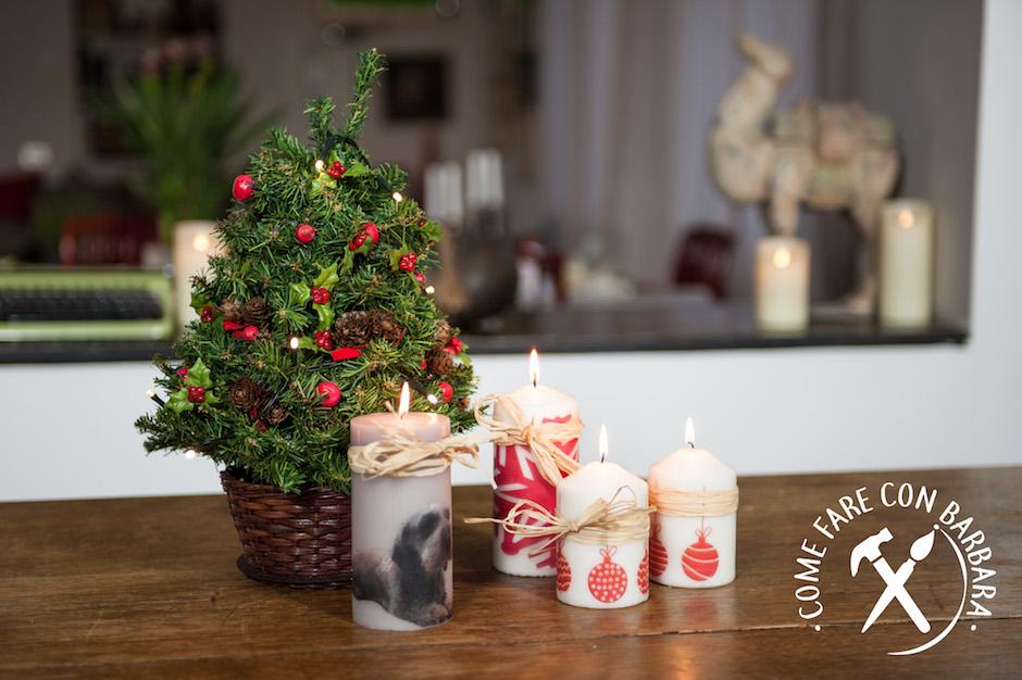 Decorare Candele Di Natale : Candele natalizie decorate fai da te come fare con barbara il