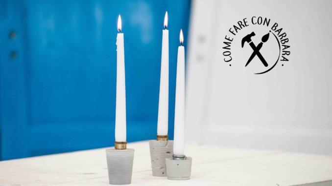 Lampada In Cemento Fai Da Te : Portacandele fai da te in cemento a presa rapida